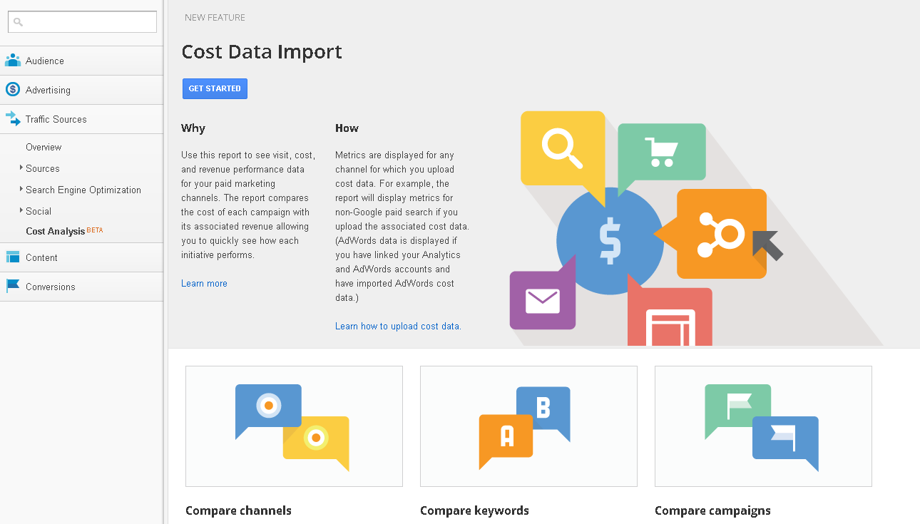 Cost Analysis - Google Analytics